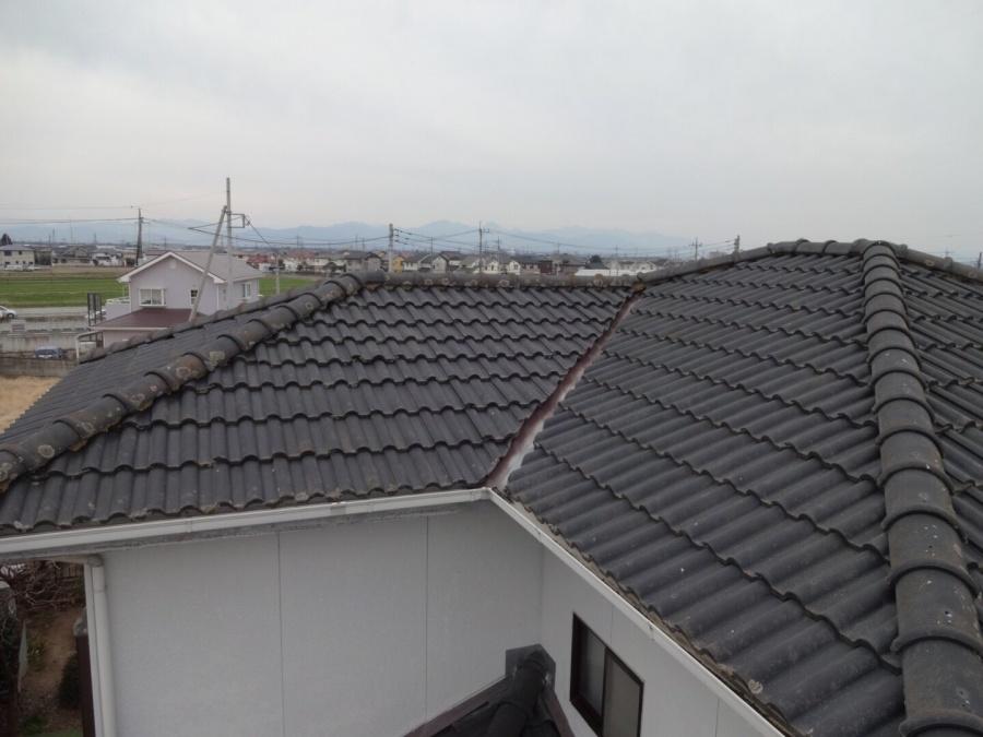 玉村町セメント瓦屋根の現場調査に行ってきました。