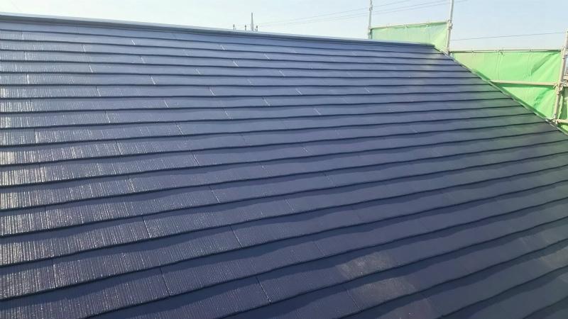 スレート屋根塗装の完成写真