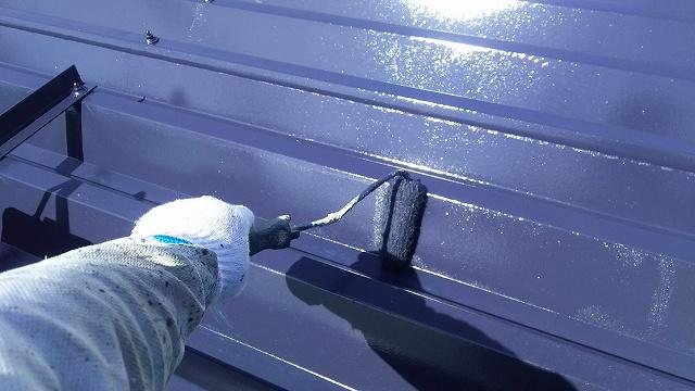 折半屋根 塗装