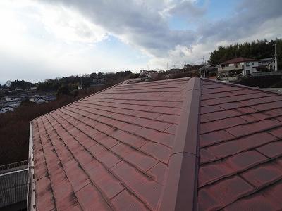 コロニアル屋根の現場調査