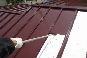 5.屋根 上塗り1回目