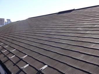 劣化している屋根