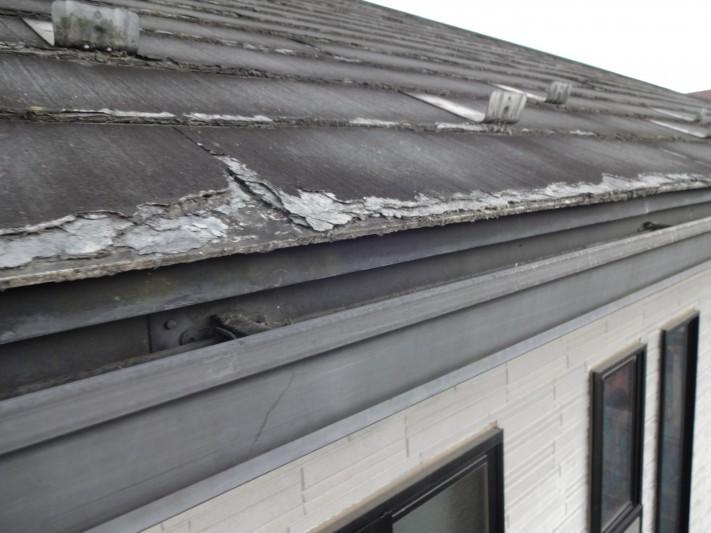 パミール屋根剥離