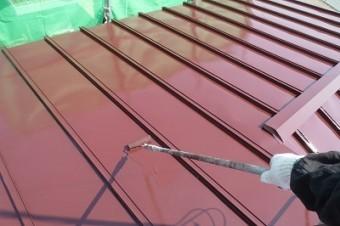 6.屋根 上塗り2回目
