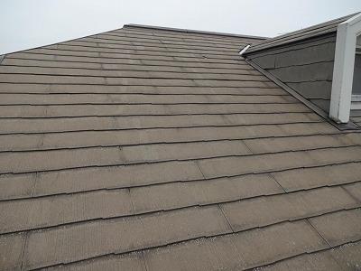 南側屋根の色あせ