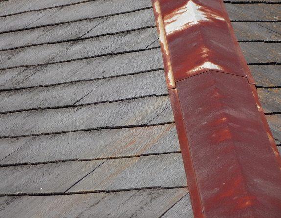 屋根 棟板金 さび